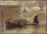 Centenary of Royal Navy Submarine Service 45p Stamp (2001) Unity Class Submarine, 1939