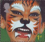 New Millennium. Rights of the Child. Face Paintings 1st Stamp (2001) 'Tiger' - Listen to Children
