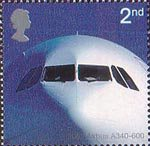 Airliners 2nd Stamp (2002) Airbus A340-600 (2002)