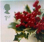 Christmas 2002 1st Stamp (2002) Holly