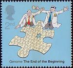 50th Anniversary of Discovery of DNA 2nd Stamp (2003) Completeing the Genome Jigsaw