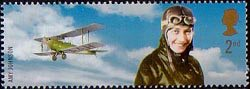 Extreme Endeavours (British Explorers) 2nd Stamp (2003) Amy Johnson (pilot) and Biplane