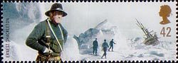 Extreme Endeavours (British Explorers) 42p Stamp (2003) Ernest Shackleton (Antarctic explorer) and Wreck of Endurance