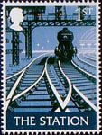 British Pub Signs 1st Stamp (2003) 'The Station' (Andrew Davidson)