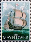 British Pub Signs 47p Stamp (2003) 'The Mayflower' (Ralph Ellis)