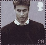 21st Birthday of Prince William of Wales 28p Stamp (2003) Prince William in September 2001 (Brendan Beirne)
