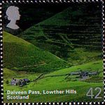 A British Journey : Scotland 42p Stamp (2003) Dalveen Pass, Lowther Hills