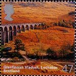 A British Journey : Scotland 47p Stamp (2003) Glenfinnan Viaduct, Lochaber