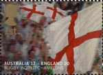 England's Victory in Rugby World Cup Championship, Australia 1st Stamp (2003) Flags