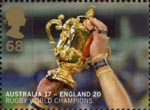 England's Victory in Rugby World Cup Championship, Australia 68p Stamp (2003) World Cup