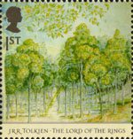 The Lord of the Rings 1st Stamp (2004) Forest of Lothlorien in Spring