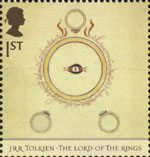 The Lord of the Rings 1st Stamp (2004) Dust-jacket for The Fellowship of the Ring