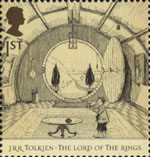The Lord of the Rings 1st Stamp (2004) The Hall at Bag End