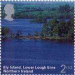 A British Journey - Northern Ireland 2nd Stamp (2004) Ely Island, Lower Lough Erne
