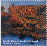 A British Journey - Northern Ireland 1st Stamp (2004) Giant's Causeway. Antrim Coast