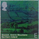 A British Journey - Northern Ireland E Stamp (2004) Slemish, Antrim Mountains