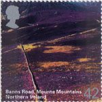 A British Journey - Northern Ireland 42p Stamp (2004) Banns Road, Mourne Mountains