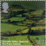A British Journey - Northern Ireland 47p Stamp (2004) Glenally Vally, Splerrins