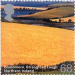 A British Journey - Northern Ireland 68p Stamp (2004) Islandmore, Strangford Lough