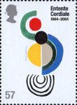 Centenary of the Entente Cordiale. Contemporary Paintings 57p Stamp (2004) 'Coccinelle' (Sonia Delaunay)