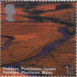 A British Journey - Wales 1st Stamp (2004) Hyddgen, Plynlimon