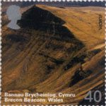 A British Journey - Wales 40p Stamp (2004) Brecon Beacons
