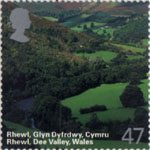 A British Journey - Wales 47p Stamp (2004) Rhewl, Dee Valley