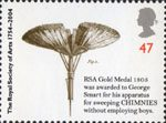250th Anniversary of the Royal Society of Arts 47p Stamp (2004) Chimney Sweep