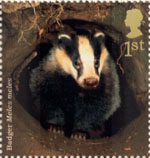 Woodland Animals 1st Stamp (2004) Badger