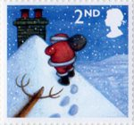 Christmas 2nd Stamp (2004) Father Christmas on Snowy Roof