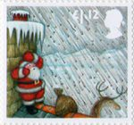 Christmas £1.12 Stamp (2004) Sheltering from Hailstorm behind Chimney