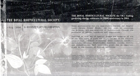 Bicentenary of the Royal Horticultural Society (2nd issue) (2004)