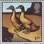 Farm Animals 1st Stamp (2005) Khaki Campbell Ducks