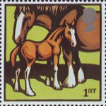 Farm Animals 1st Stamp (2005) Suffolk Horses