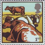 Farm Animals 1st Stamp (2005) Dairy Shorthorn Cattle