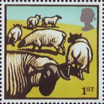 Farm Animals 1st Stamp (2005) Suffolk Sheep