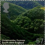 A British Journey : South West England 57p Stamp (2005) Chiselcombe, Exmoor