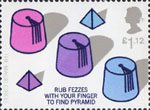 Centenary of the Magic Circle �1.12 Stamp (2005) Pyramid under Fez Trick