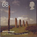 World Heritage Sites 68p Stamp (2005) Heart of Neolithic Orkney, Scotland