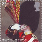 Trooping the Colour 2nd Stamp (2005) Ensign of the Scots Guards, 2002