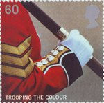 Trooping the Colour 60p Stamp (2005) Welsh Guardsman, 1990s
