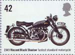 British Motorcycles 42p Stamp (2005) Vincent Black Shadow, Fastest Standard Motorcycle (1949)