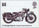 British Motorcycles 60p Stamp (2005) Brough Superior, Bespoke Luxury Motorcycle (1930)