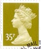 Definitive 35p Stamp (2005) Yellow Olive