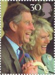 Royal Wedding - The Prince of Wales 30p Stamp (2005) Prince Charles and Camilla