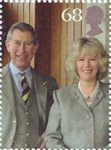 Royal Wedding - The Prince of Wales 68p Stamp (2005) Prince Charles and Camilla