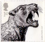 Ice Age Animals 1st Stamp (2006) Sabre-tooth tiger (Homotherium latidens)