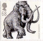 Ice Age Animals 68p Stamp (2006) Woolly Mammoth (Mammuthus primigenius)