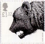 Ice Age Animals £1.12 Stamp (2006) Cave Bear (Ursus spelaus)