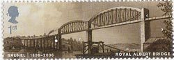 Brunel 1st Stamp (2006) Royal Albert Bridge over the River Tamar at Saltash